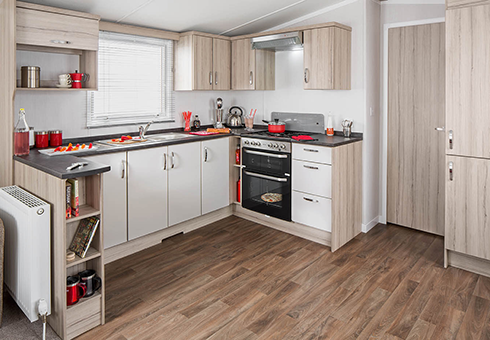 Sandhaven Holiday Park kitchen