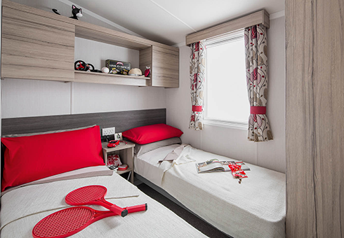 Sandhaven Holiday Park twin bedroom