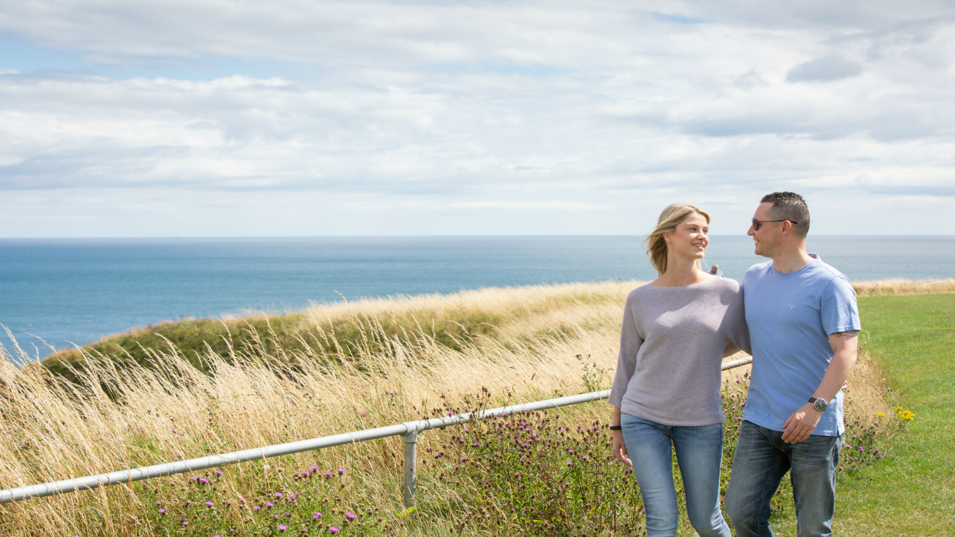 Couple walking on The Leas
